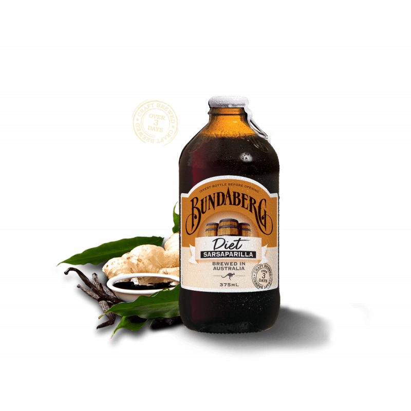 Ферментированный напиток «Bundaberg» Сарсапарилла диетическая, 375 мл