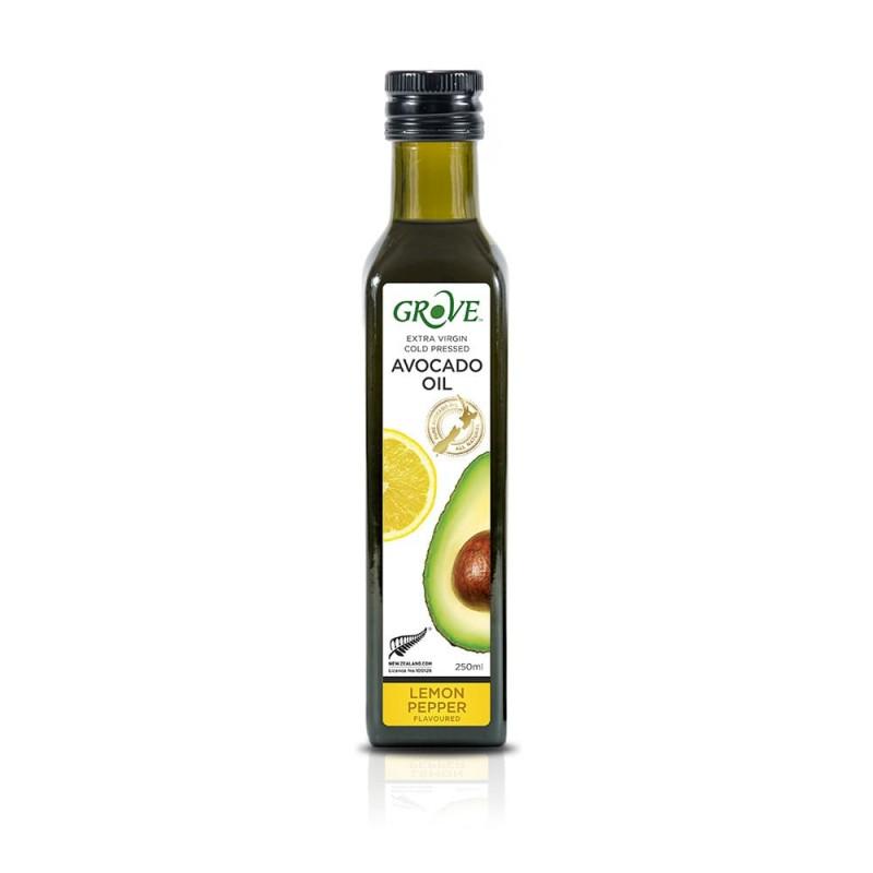 Масло авокадо Grove Extra Virgin Lemon Pepper со вкусом лимона и перца 250 мл